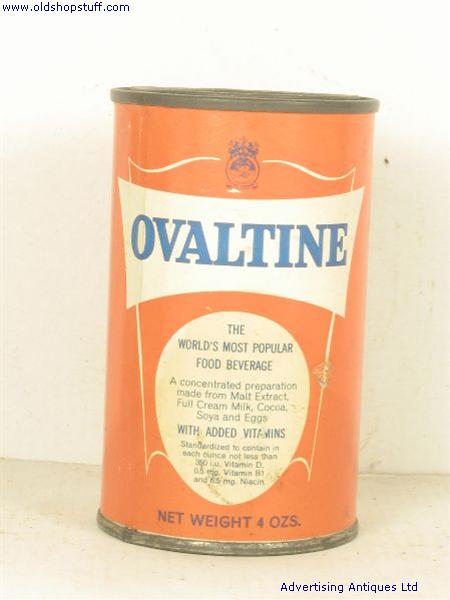 Old Shop Stuff Old Food Tin Ovaltine For Sale 3426