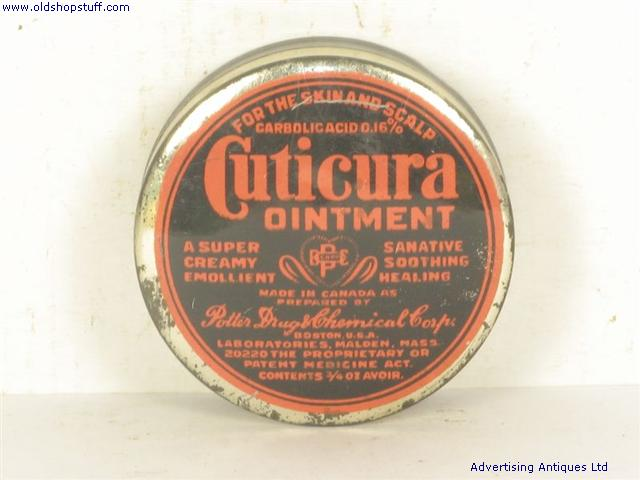 Used Car Auctions >> Old Shop Stuff | Old-Medical-Tin-Cuticura-Ointment for sale (4108)