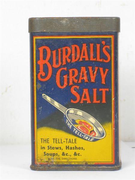 Old Shop Stuff Old Tin Burdalls Gravy Salt For Sale 5191