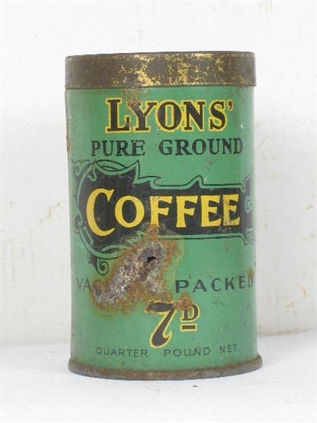 Old Shop Stuff Old Tin Lyons Coffee Tin Can For Sale 5213