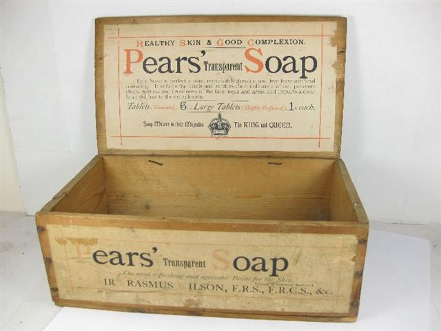 Old Shop Stuff Old Wooden Display Box Pears Soap For Sale 5390