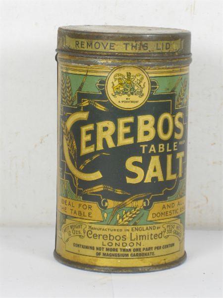 Ambulances For Sale >> Old Shop Stuff | Old-Tin-Cerebos-Salt-Tin for sale (5606)