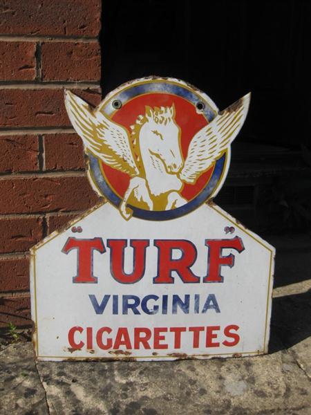 Vintage Signs For Sale >> Old Shop Stuff | Old-Turf-Cigarettes-Enamel-Sign for sale (7812)