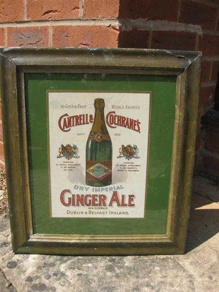 Company Description Example >> Old Shop Stuff | Old-Irish-Showcard-Card-Shop-Sign-Cantrell-and-Cochranes-Mineral-Waters-Dublin ...