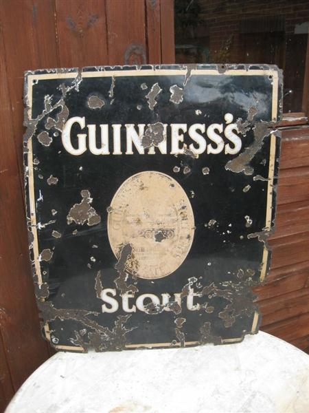 Old Shop Stuff Old Enamel Shop Sign Guinness Dublin