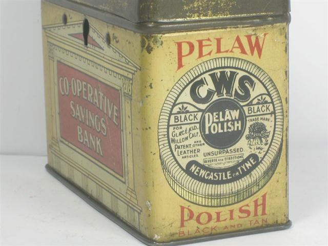 cws pelaw antique. Item: Old Tin C.W.S. Pelaw Polish Money Box; Description: Rare In This Condition; Age: 1920; Seller Info: \u003cp\u003eOver 10,000 Vintage And Antique Items For Sale Cws E