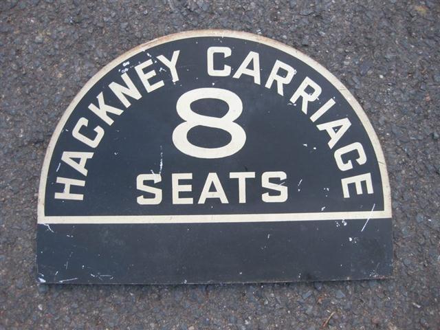 old shop stuff old taxi hackney carriage tin car sign. Black Bedroom Furniture Sets. Home Design Ideas