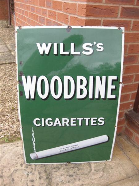 Used Car Auctions >> Old Shop Stuff | Old-Enamel-Shop-Sign-Wills-Woodbine ...
