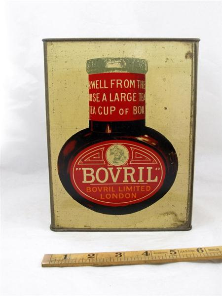 Old Shop Stuff Old Bovril Tin For Sale 11213