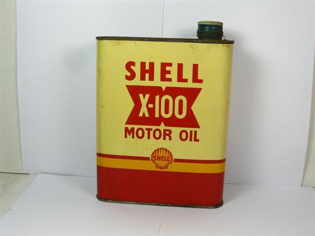 Old shop stuff old advertising garage tin shell x 100 motor car oil for sale 11294 Sale on motor oil
