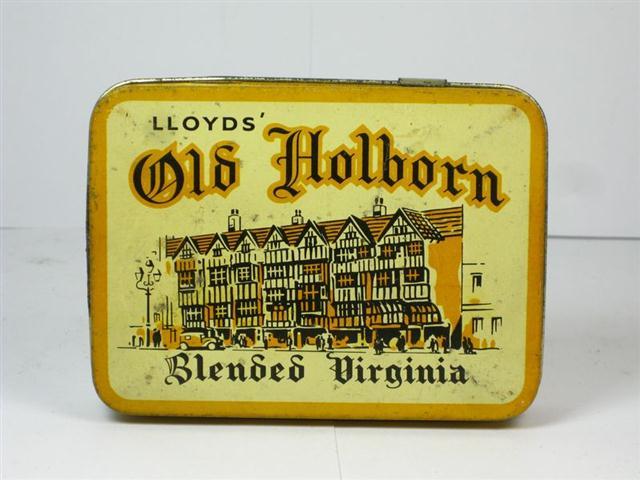 Old Shop Stuff Old Tobacco Tin Lloyds Old Holborn For