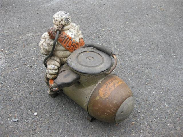 Old Shop Stuff Michelin Man Garage Air Compressor For