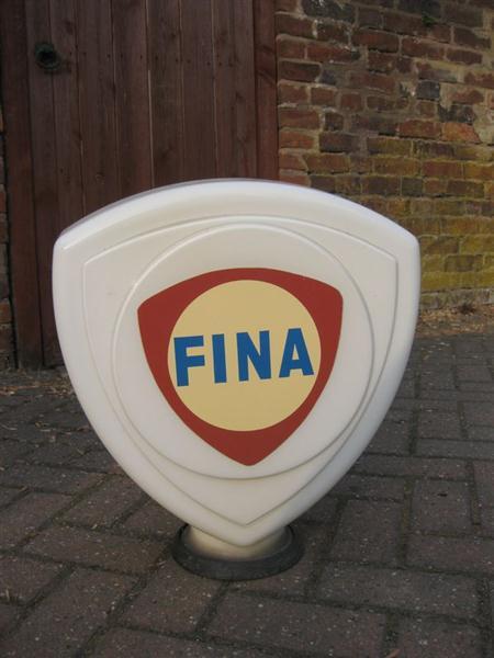 Old Shop Stuff Fina Petrol Pump Globe For Sale 12089