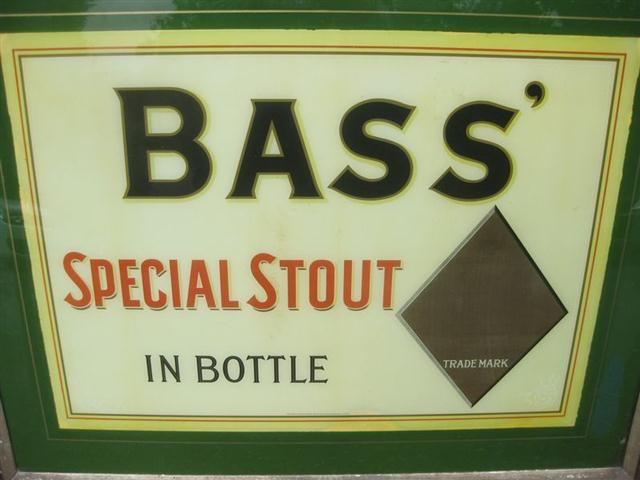Old Shop Stuff Old Bass Stout Ale Beer Glass Pub Sign