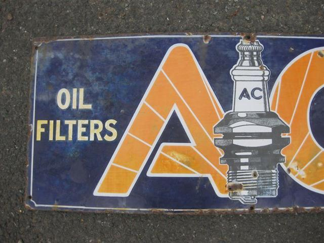 Car Shipping Cost >> Old Shop Stuff | Old-Garage-Enamel-Sign-AC-Spark-Plugs-and ...