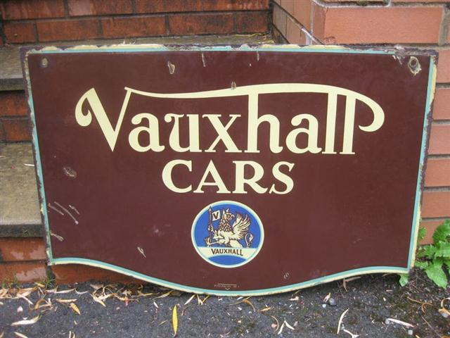 Car Old Garage Signs : Old shop stuff garage enamel sign vauxhall vintage