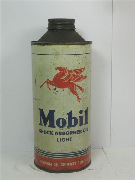 Old shop stuff old advertising garage tin vintage motor oil can mobil shock absorber for sale Sale on motor oil