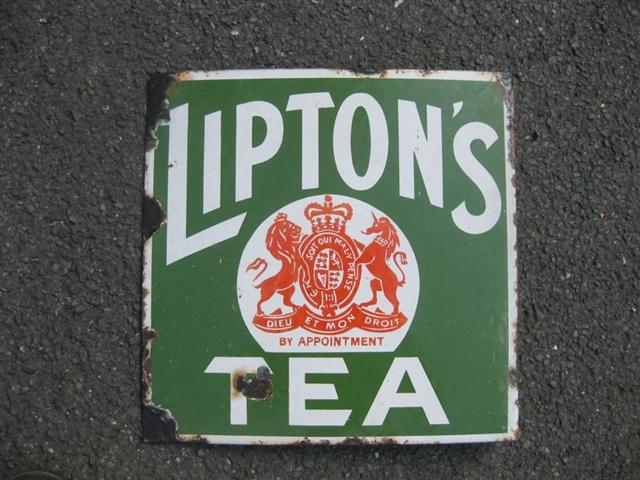 Old Shop Stuff Old Enamel Sign For Liptons Tea For Sale