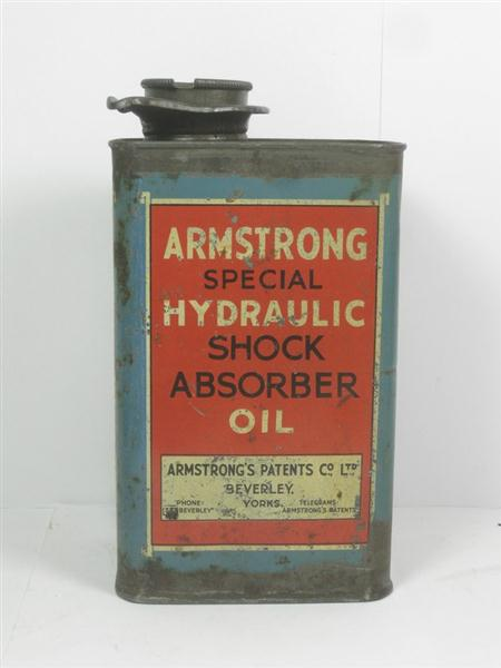 Ambulances For Sale >> Old Shop Stuff | Old-Advertising-Garage-Tin-Can-Armstrong-Shock-absorber-Oil for sale (12516)