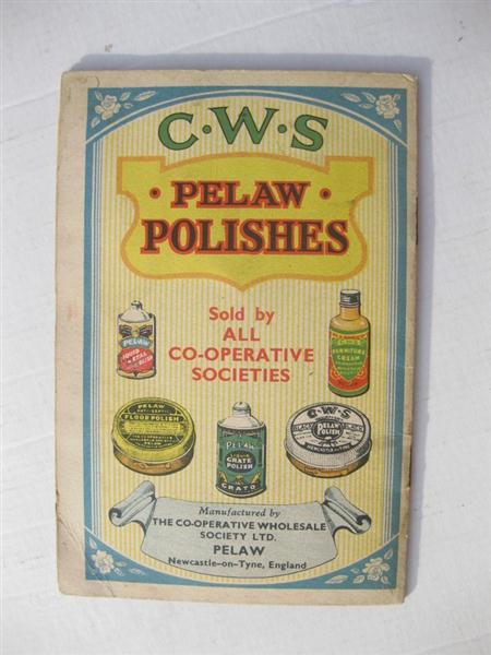 cws pelaw antique tyne item old promotional pamphlet booklet for cws pelaw polishes description pelaws polishes universial union jack flag and european flags shop stuff oldpromotionalpamphletbookletforcwspelaw