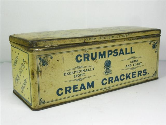 Old Shop Stuff Old Food Tin Crumpsall Cream Crackers For