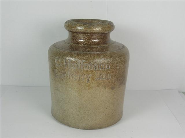 old shop stuff old slatglaze jar hoffman rassbery jam. Black Bedroom Furniture Sets. Home Design Ideas