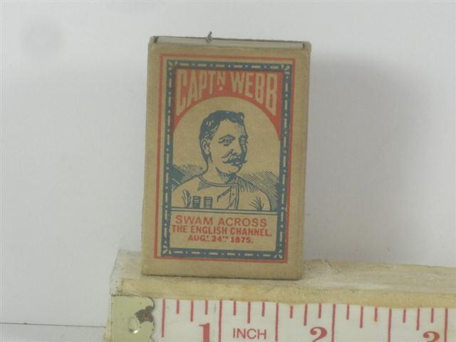 Ambulances For Sale >> Old Shop Stuff | Old-matchbox-Bryant-and-May-Captain-Webb-English-Channel-Swim for sale (17878)