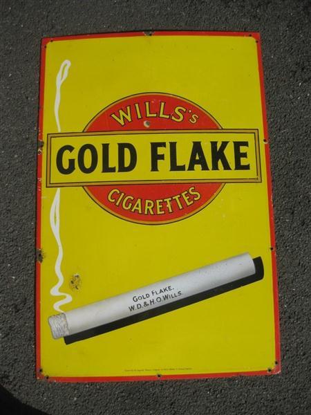 Old Shop Stuff Old Enamel Sign Wills Gold Flake