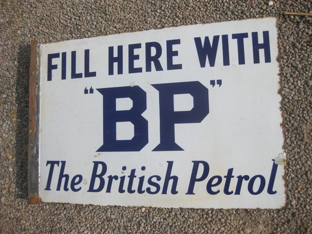 Old Shop Stuff Old Enamel Sign For Sale Bp Fill Here The