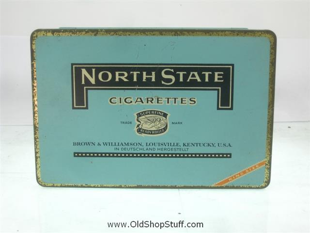 Old Shop Stuff | Old-tobacco-cigarette-tin-North-State-Cigarettes-Kentucky for sale (21321)