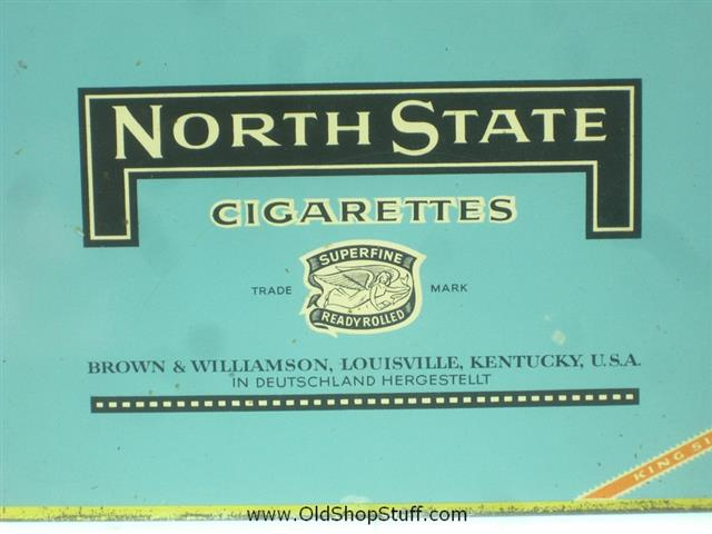 Old Shop Stuff | Old-tobacco-cigarette-tin-North-State-Cigarettes-Kentucky for sale (21322)