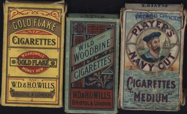 Old Shop Stuff Old Cigarette Packets Wills Gold Flake