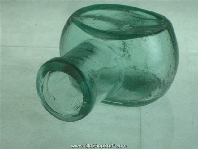 Old Shop Stuff Rare Clear Bovril Bottle Jar 2oz Aqua For