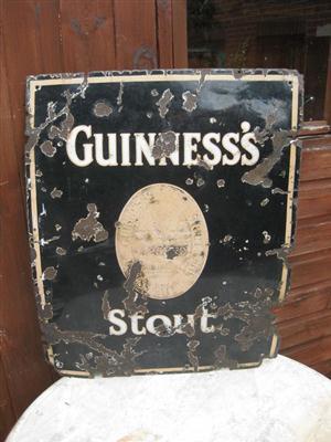 Old Shop Stuff Old Enamel Shop Sign Guinness Dublin