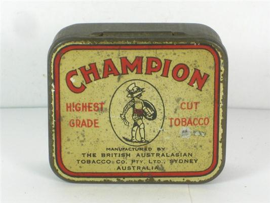 Old Shop Stuff Old Tobacco Tin Champion British