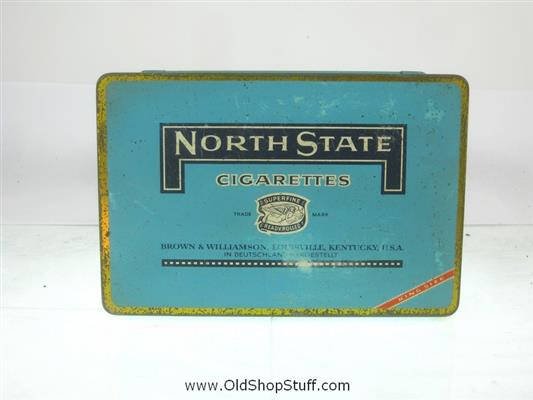 Old Shop Stuff | Old-tobacco-cigarette-tin-North-State-Cigarettes-Kentucky for sale (21323)