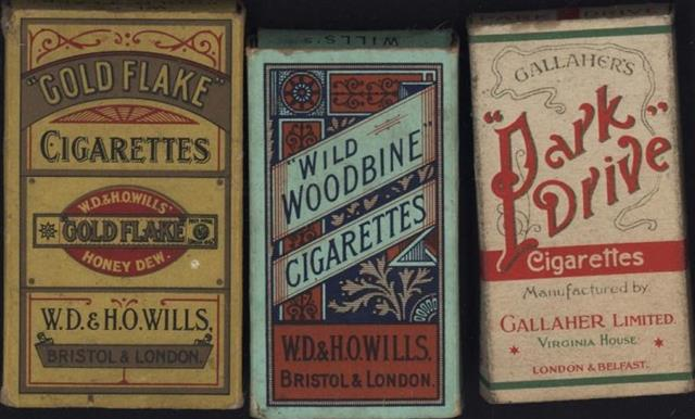 Old Shop Stuff Old Cigarette Packets Gallaher Park Drive