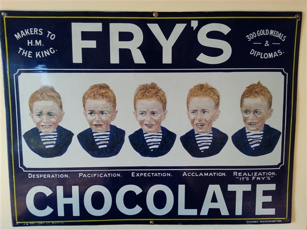Frys Five Boys Coloured Advertising Antiques