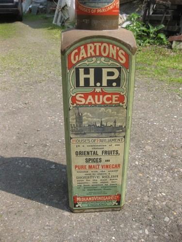 Giant Tin Gartons Hp Sauce Bottle Display Advertising