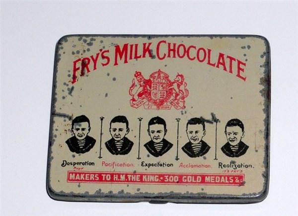 Five Boys Chocolate Mini Sample Tin For Sale Advertising