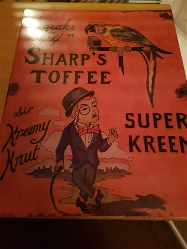 Sharp S Toffee Original Sign Sic Advertising Antiques Oldshopstuff Com Home Forum Collecting Enamel Signs Forums Collecting Enamel Signs